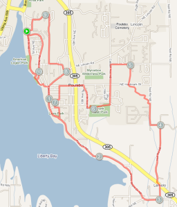 Running Route Around Poulsbo
